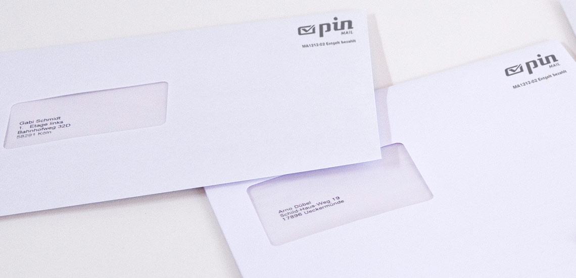 Freimachungsvermerke auf Briefen