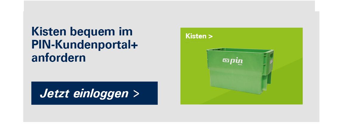 """grüne PIN-Kiste und Button """"Jetzt einloggen"""""""