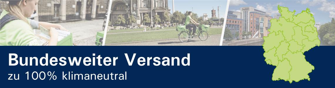 PIN Briefzusteller und grüne Deutschlandkarte