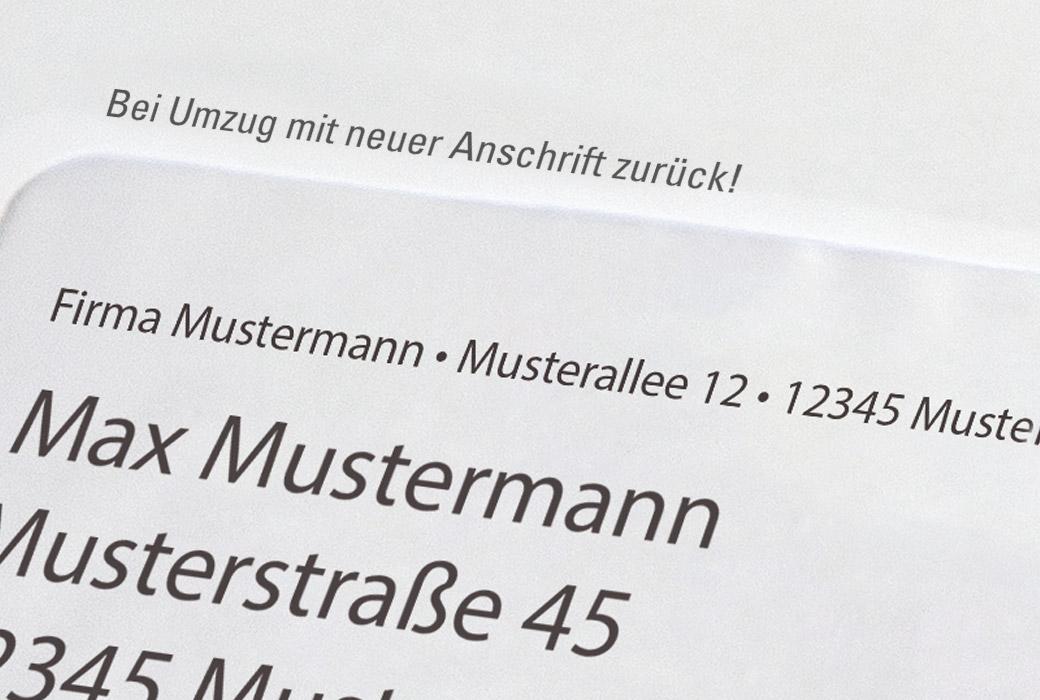 Vorausverfügung auf Brief Bei Umzug mit neuer Anschrift zurück