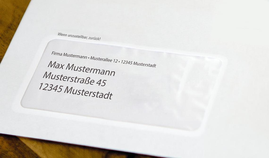 Vorausverfügung auf einem Brief