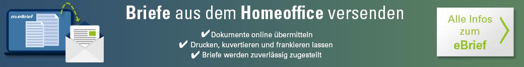 Banner - Briefe aus dem Homeoffice versenden - Alle Infos zum eBrief
