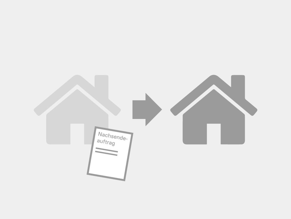 Nachsendeauftrag - Zwei Häuser und ein Formular