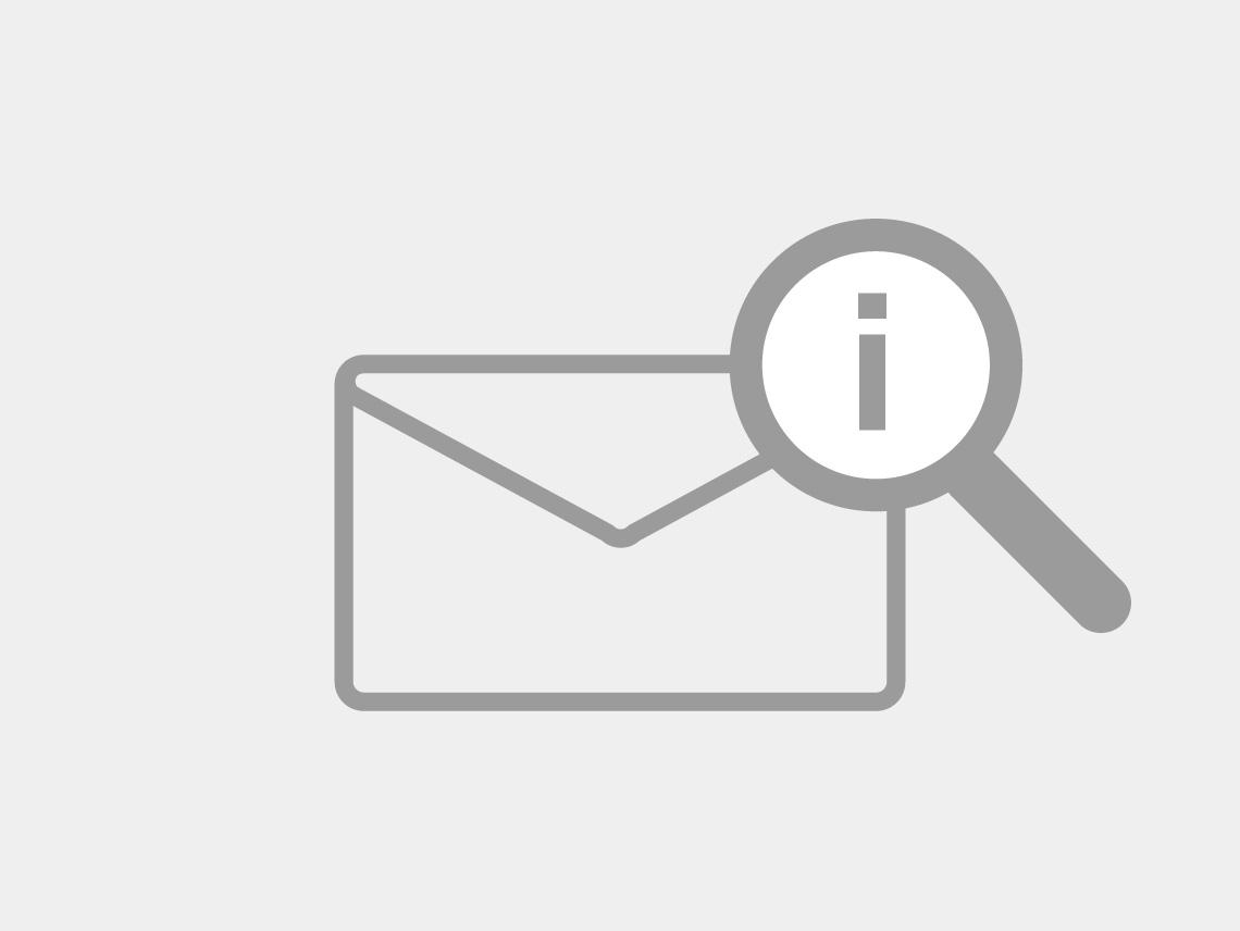 Icon Sendungsstatus - Brief mit Lupe