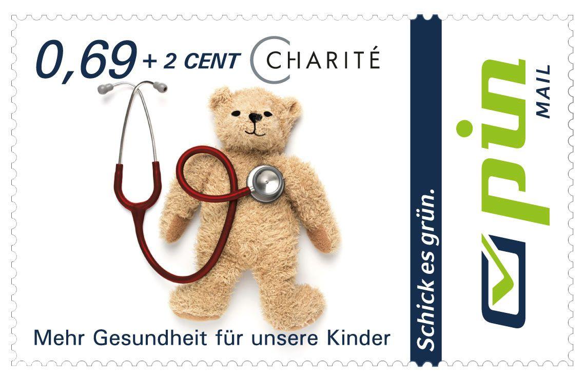 Charité Spendenbriefmarke 0,69 + 2 Cent