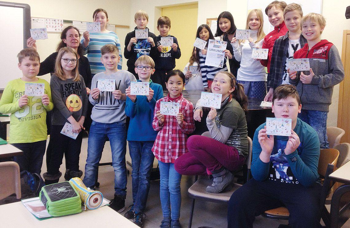 Klassenfoto der 5c der Trelleborg-Schule - PIN macht Schule 2016!