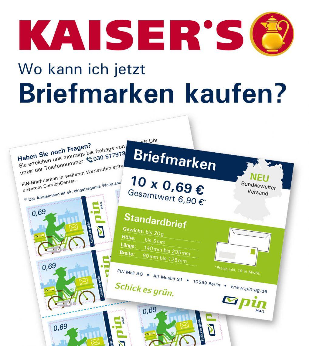 PIN-Briefmarken bei Kaisers nicht mehr erhältlich
