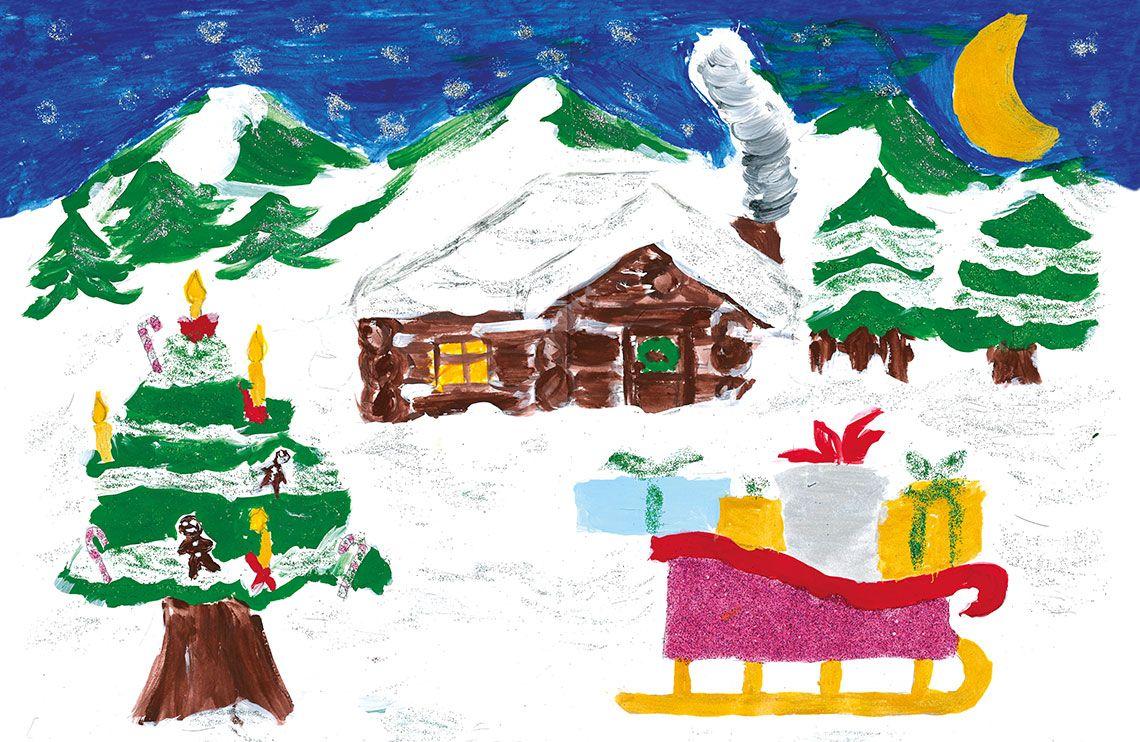 Verschneite Weihnachtsbilder.Pin Macht Schule 2018