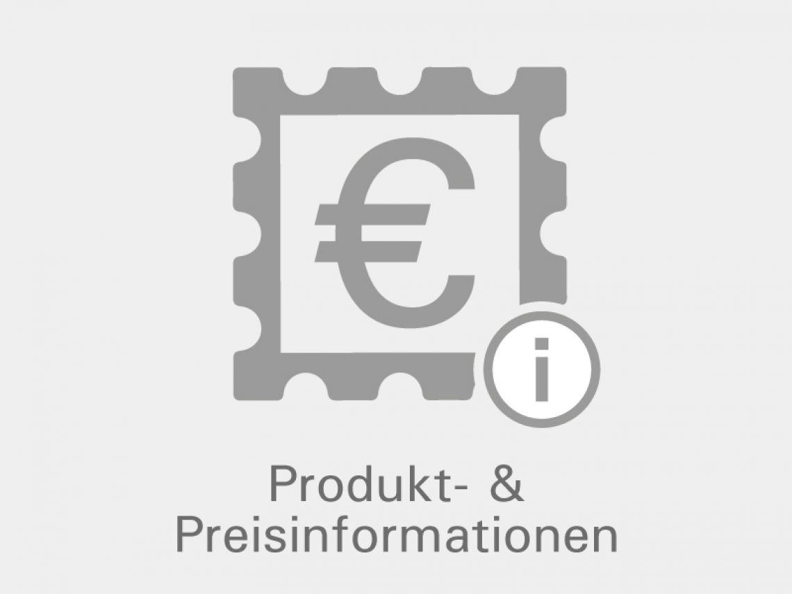 graues Icon - Briefmarke mit Eurozeichen