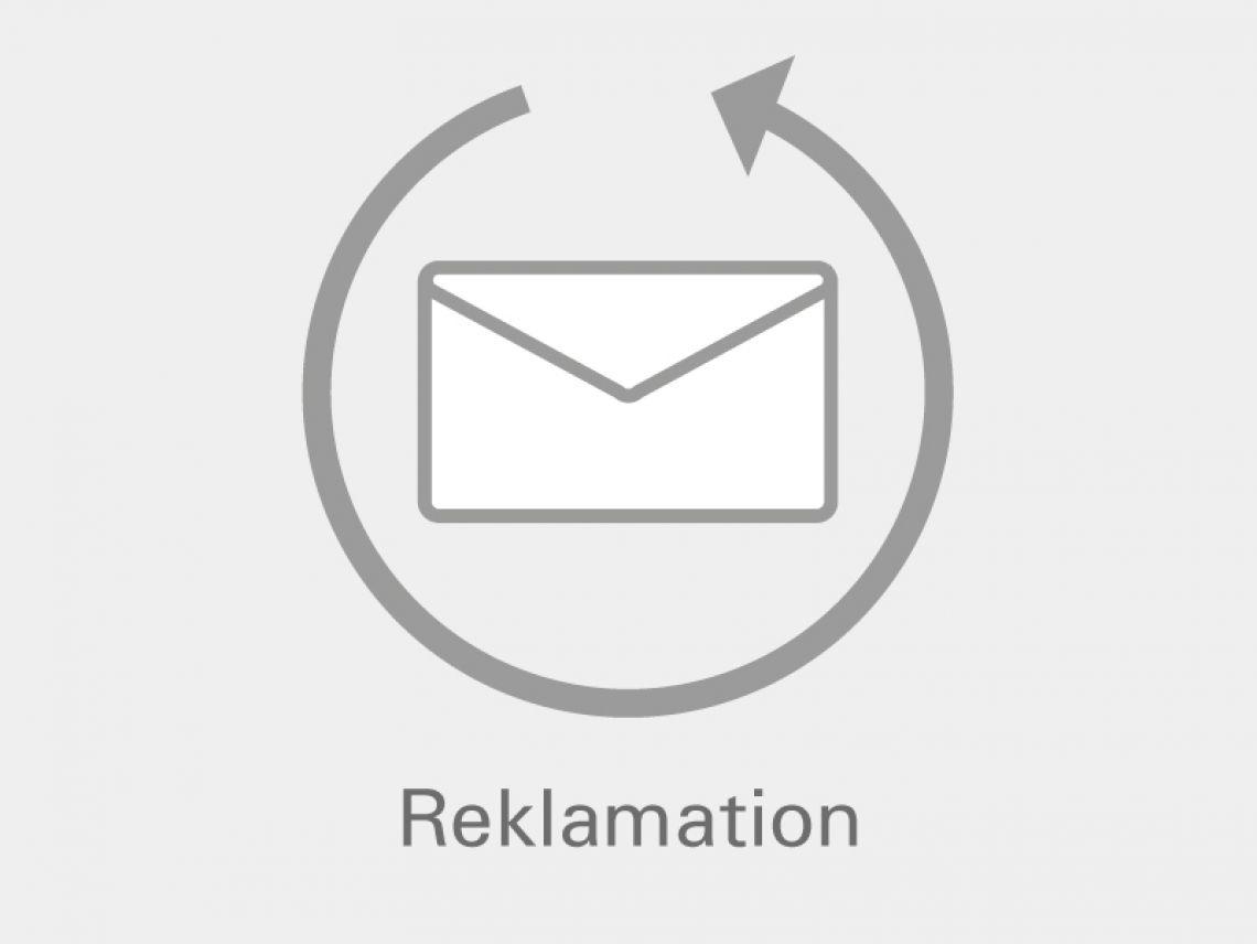 graues Icon - Brief mit umschließenden Pfeil gegen Uhrzeigersinn
