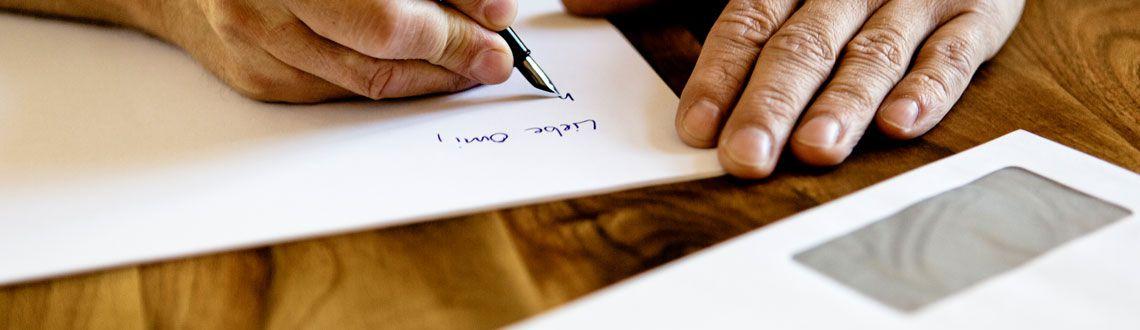 Privatkunden - Brief schreiben