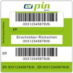 Label Einschreiben Rückschein